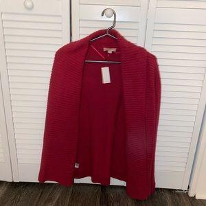 Loft Red Cardigan
